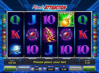игровой автомат reel attraction novomatic